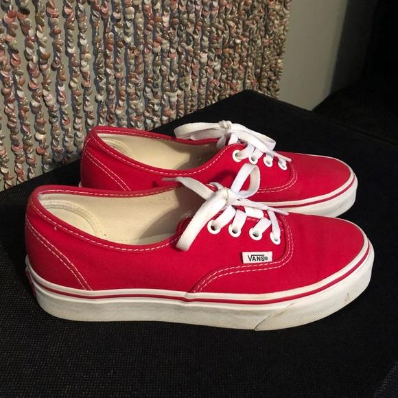 Vans Shoes | Unisex Red Vans Womens 7